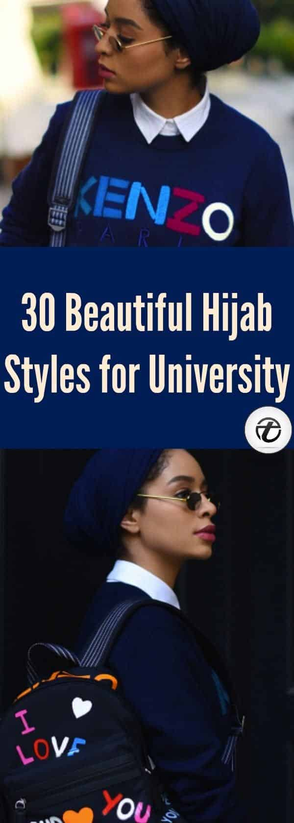how to wear hijab to university