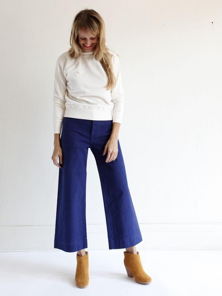 ways to wear sailor pants fashionably 14