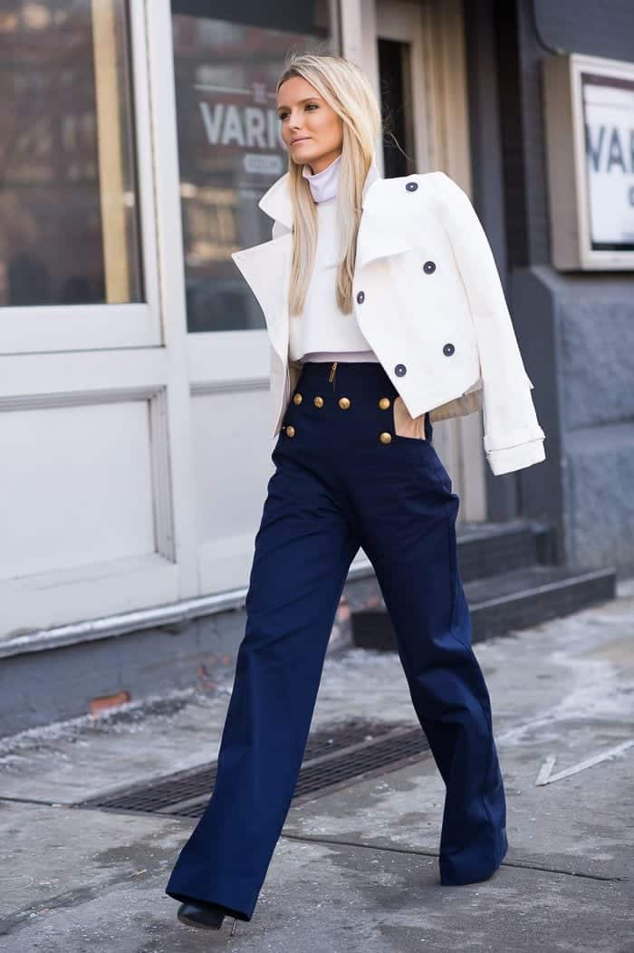 ways to wear sailor pants fashionably 7
