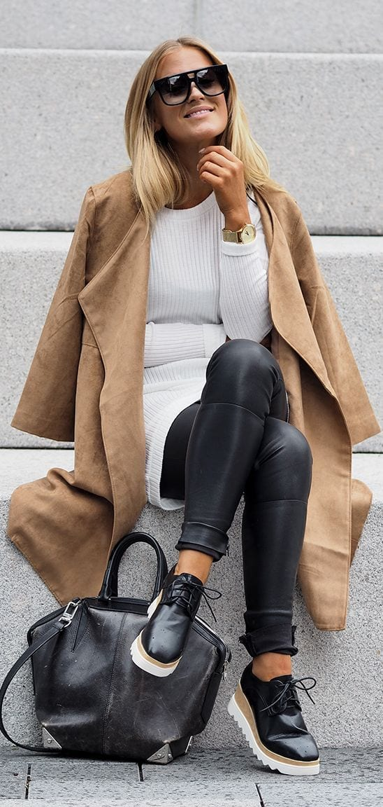 ideas to wear camel coats
