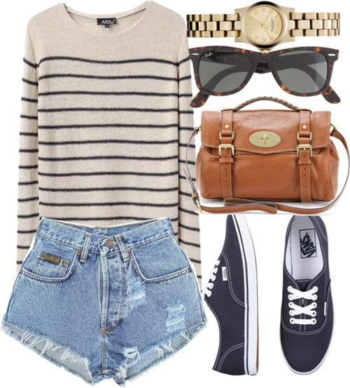 06dd1163984 25 Cute Outfits With High Waisted Shorts For A Chic Look
