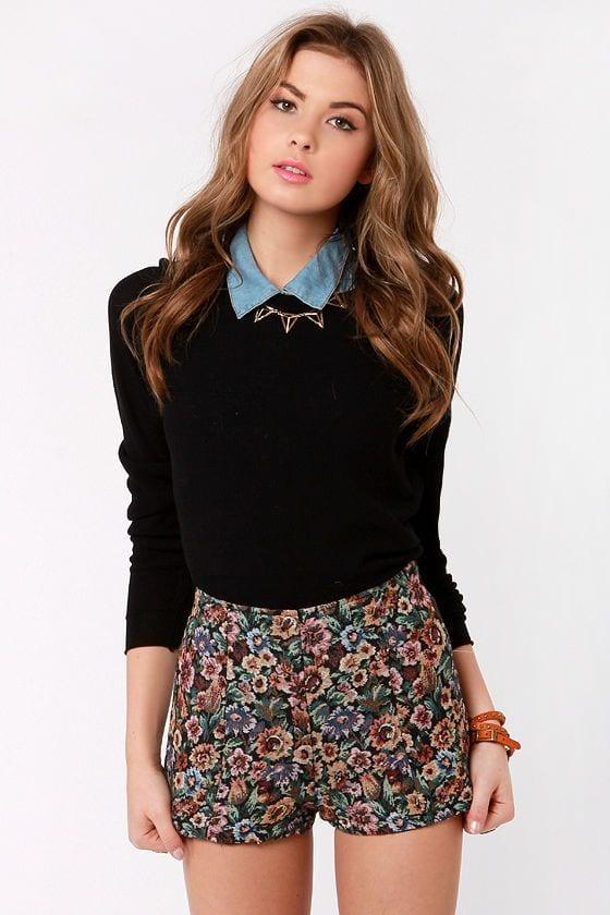 Cute High Waisted Shorts(4)