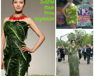 outfits made from vegetables