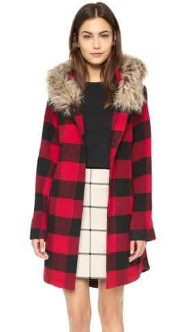 cute outfits with plaid coats 9