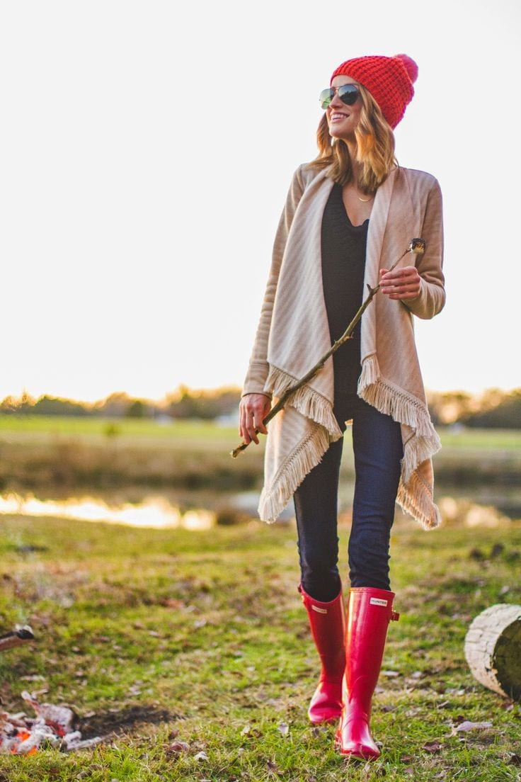 how to style hunter boots 3