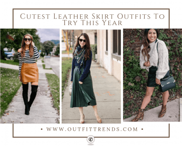 leather skirt outfits