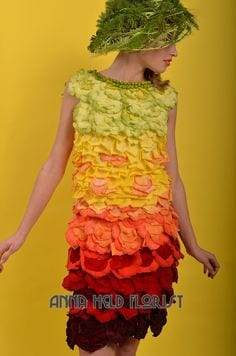 Vegetable Dresses 8 Creative Dress Made From Vegetable