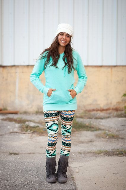 Patterned Leggings Outfit