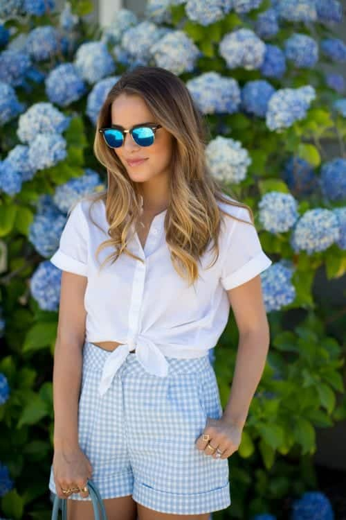 High waisted short outfits for girls 7