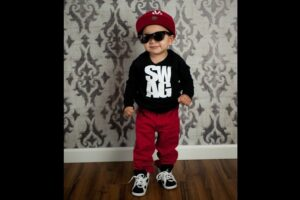 Kids with casual swag style