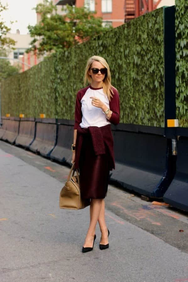 pencil skirt outfit ideas 12