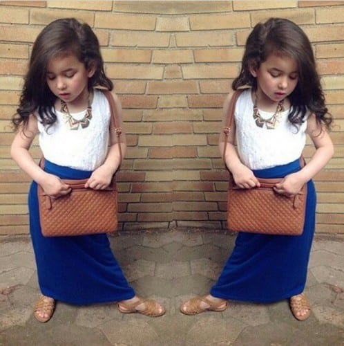 kids swag outfits with maxi skirts