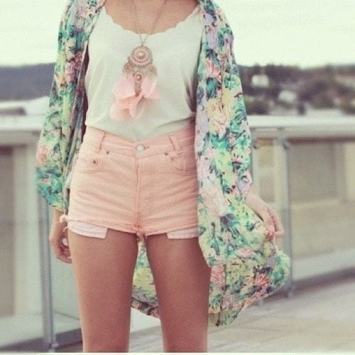 High waisted short outfits for girls 15