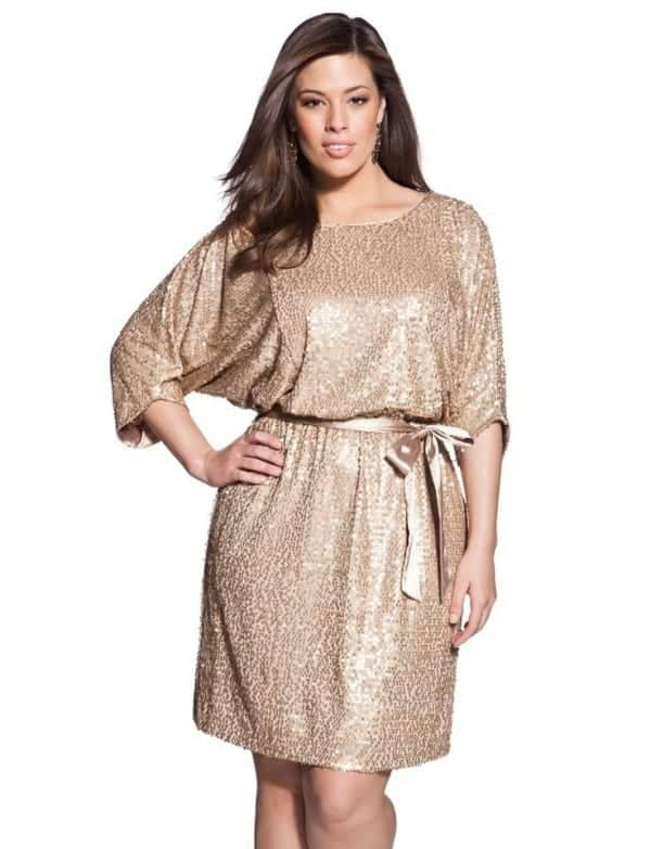 Trendy ways to wear sequin outfits as curvy women (17)