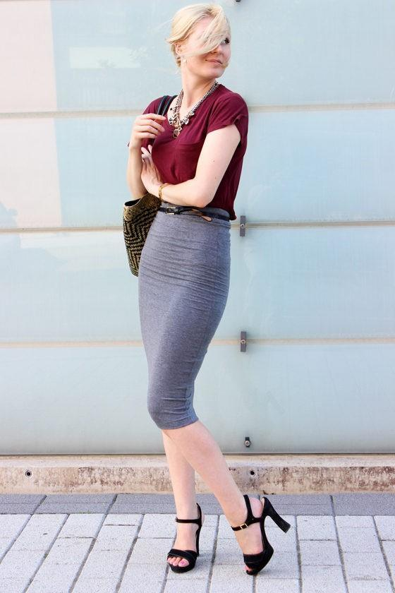 pencil skirt outfit ideas 20