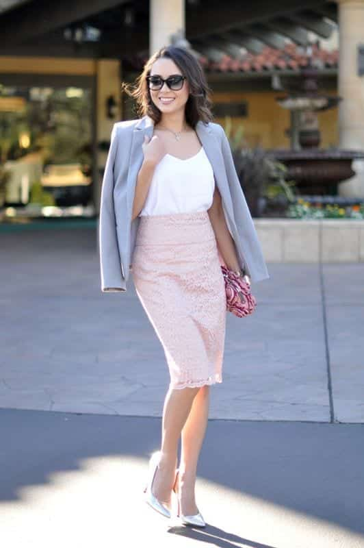 pencil skirt outfit ideas 22