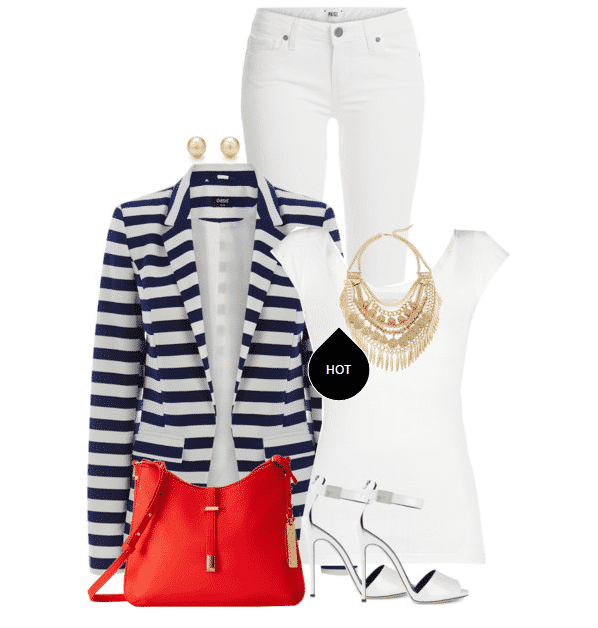 Fashionable ways to wear white jeans (1)