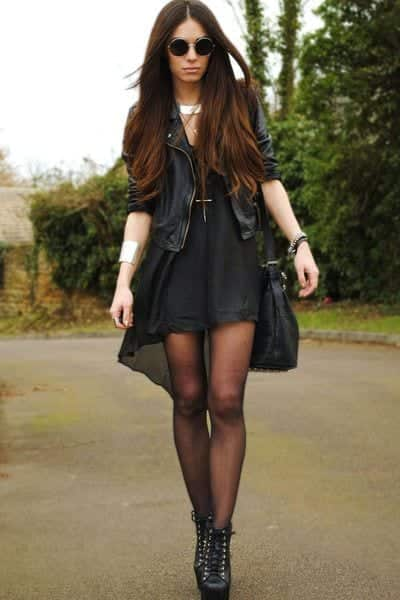 how to wear black tights (1)