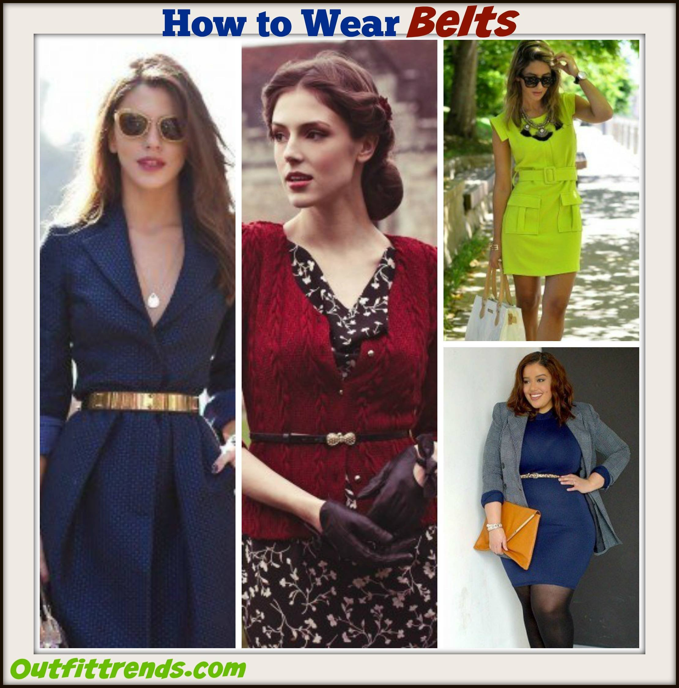 how to wear belts