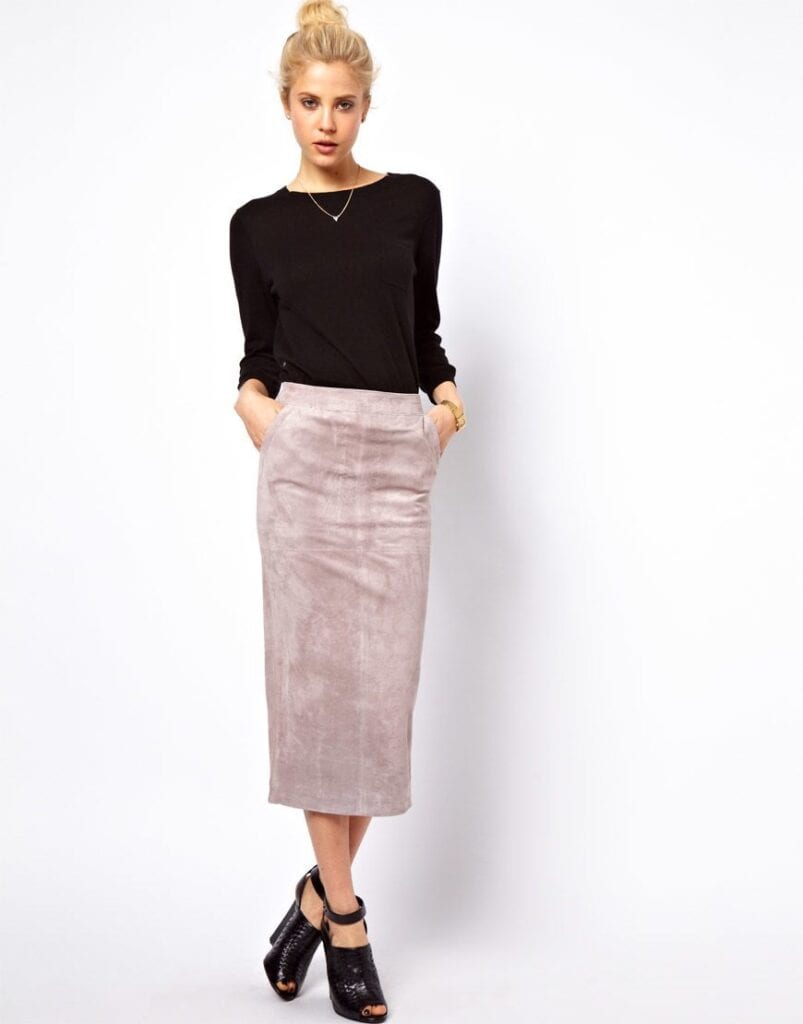 pencil skirt outfit ideas 17