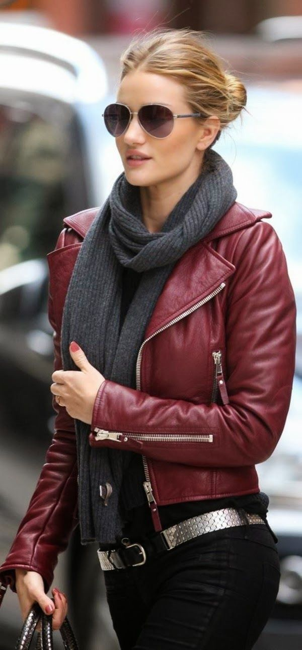 leather jacket outfits for girls (7)