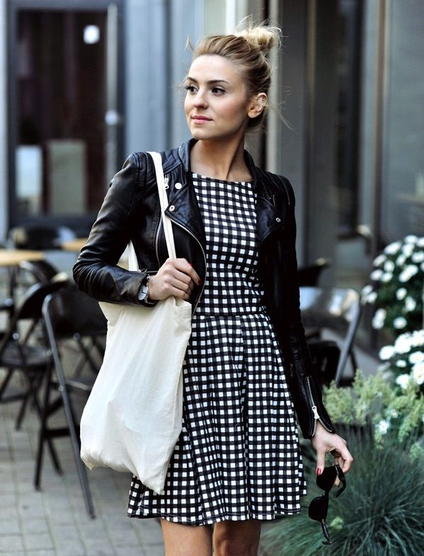 leather jacket outfits for girls (4)