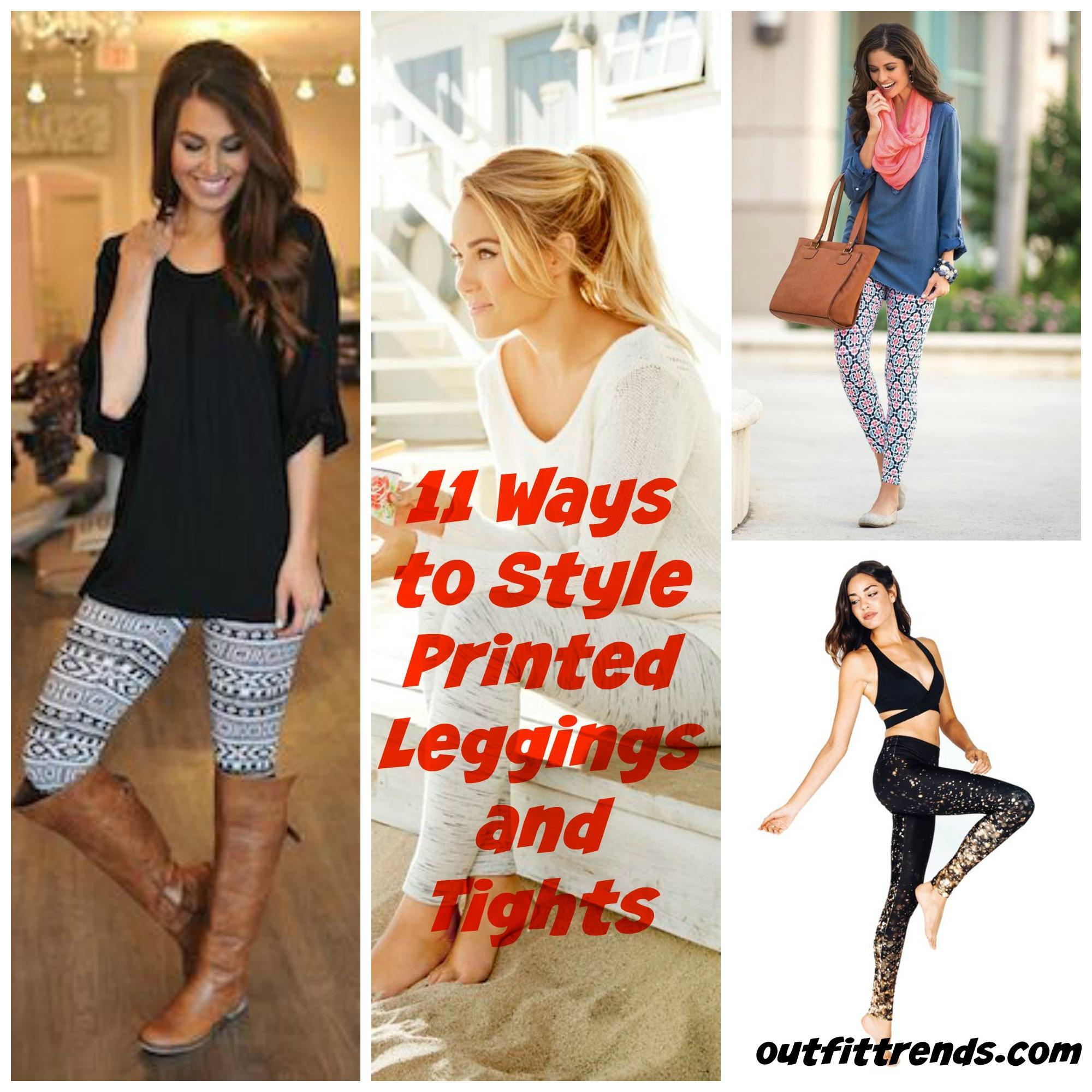 leggings tights printed outfits