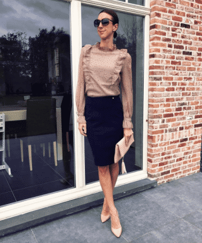 different ways to wear pencil skirts