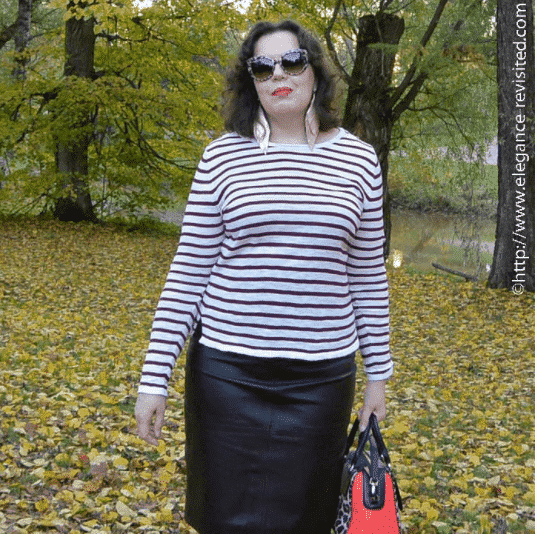 pencil skirt outfits for curvy girls