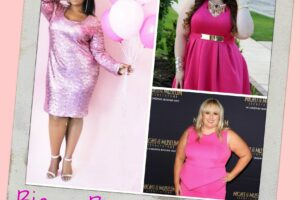 plus size pink