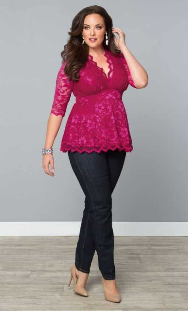 pink outfits for plus size girls (1)