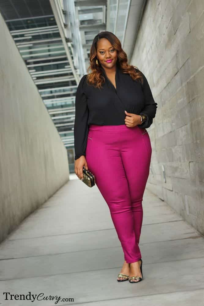 pink outfits for plus size girls (15)