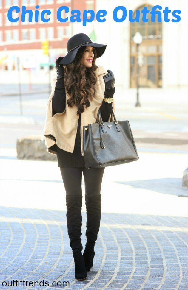 Chic Outfits to Wear with Cape (3)