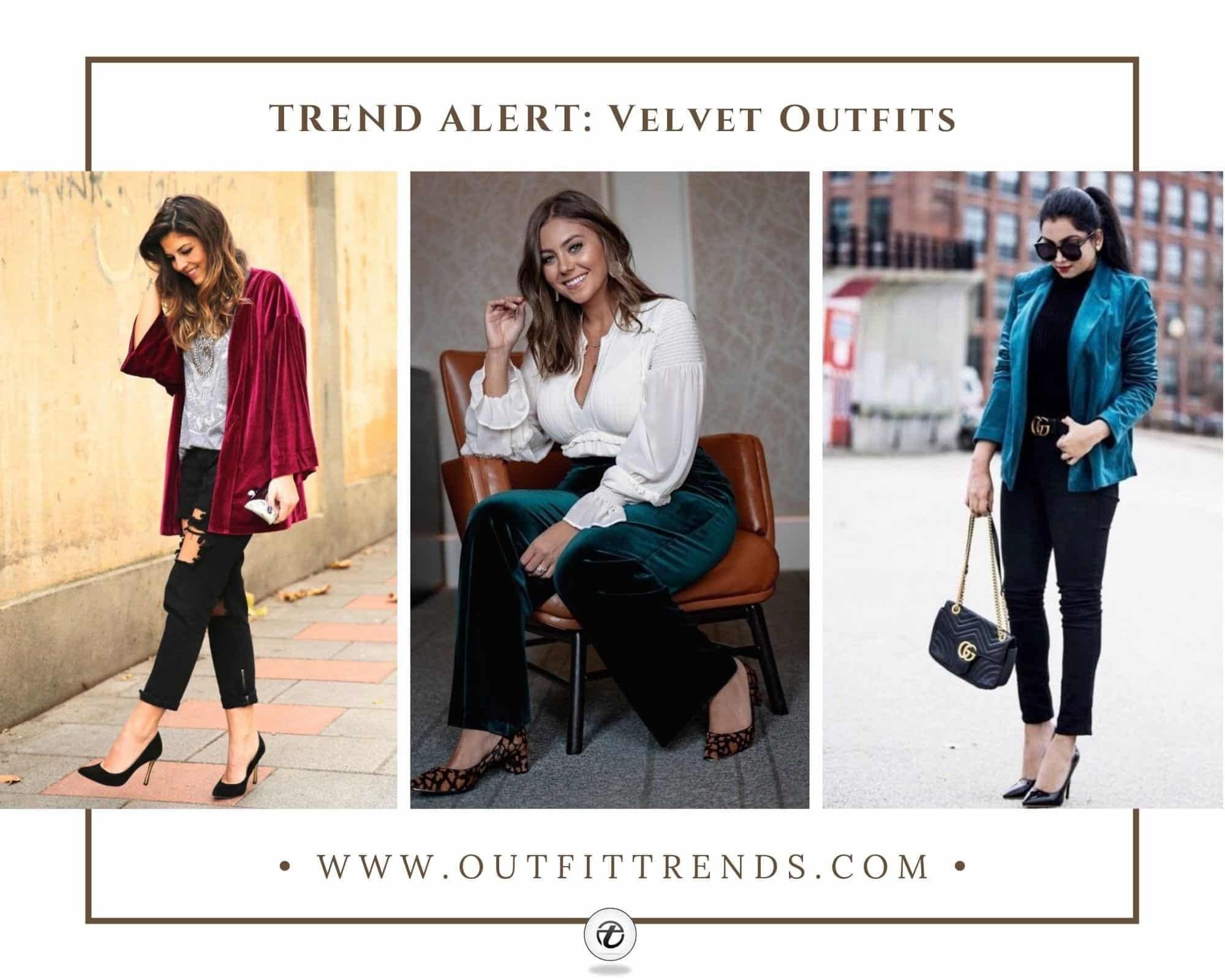 Velvet Outfit Ideas 30 Trendy Ways to Wear Velvet Dresses