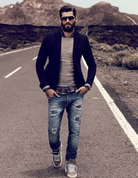 Men Ripped Jeans Outfits (10)