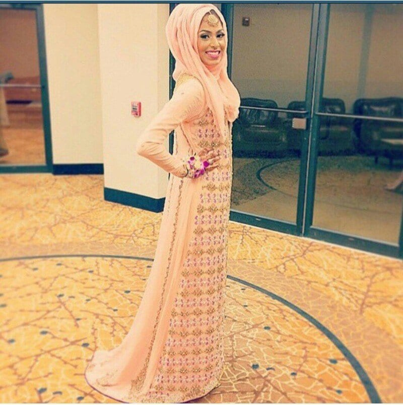 5ea9b3ca6df Peach A-line Embroided Engagement Dress. Engagment Dresses ...