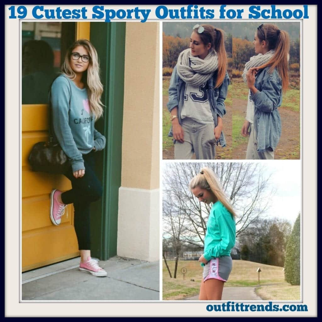 20 Cute Sporty Style School Outfits That Every Girl Must Try