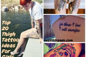 thigh tattoo ideas girls