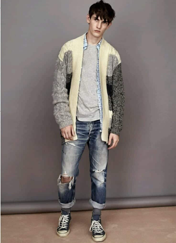 Teenage Guys winter Outfits (24)