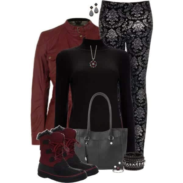 Outfits with Velvet Leggings (13)