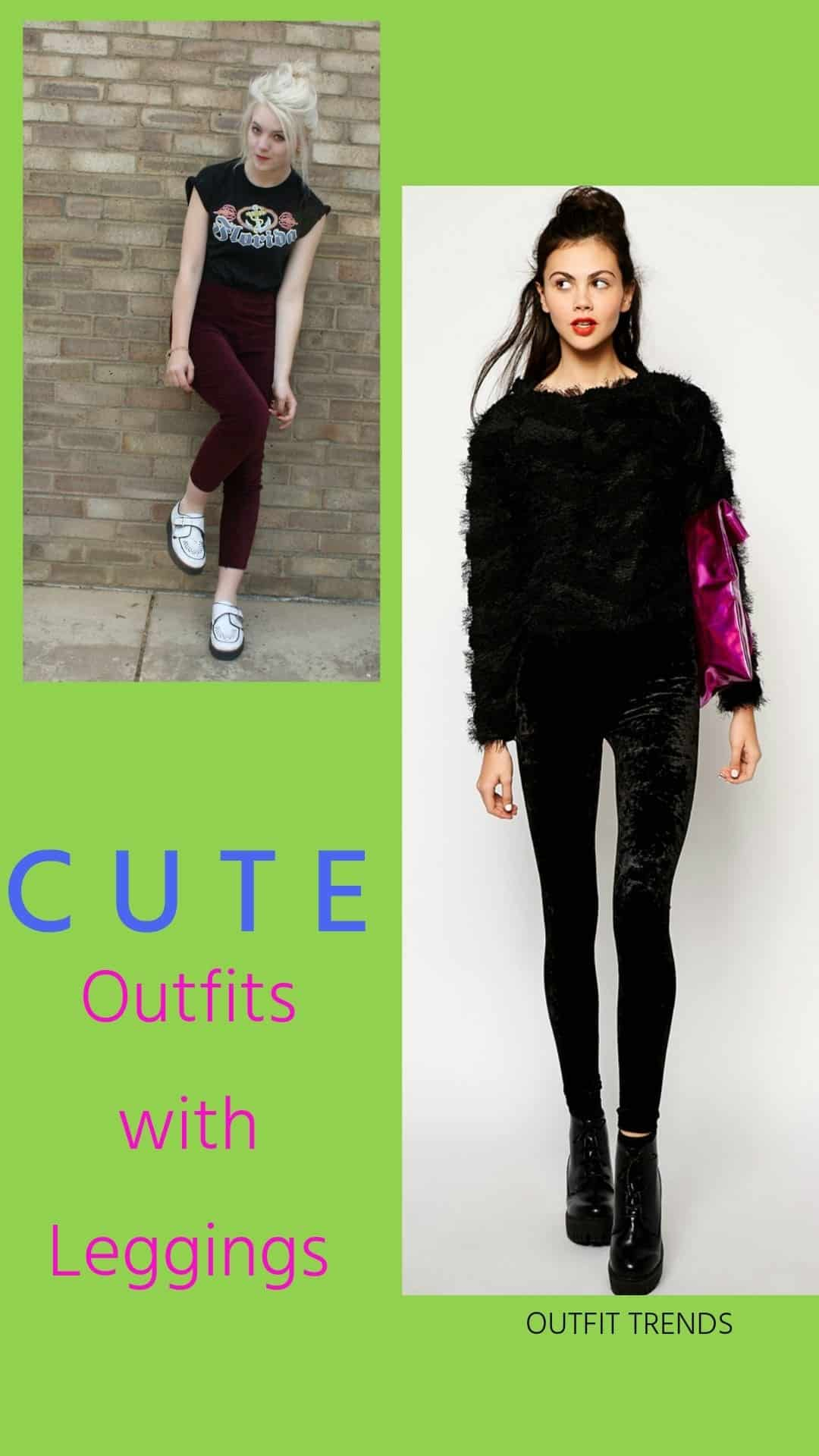 Outfits with Velvet Leggings (1)