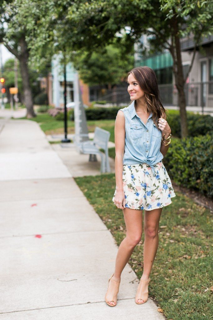 Outfits with floral shorts (58)