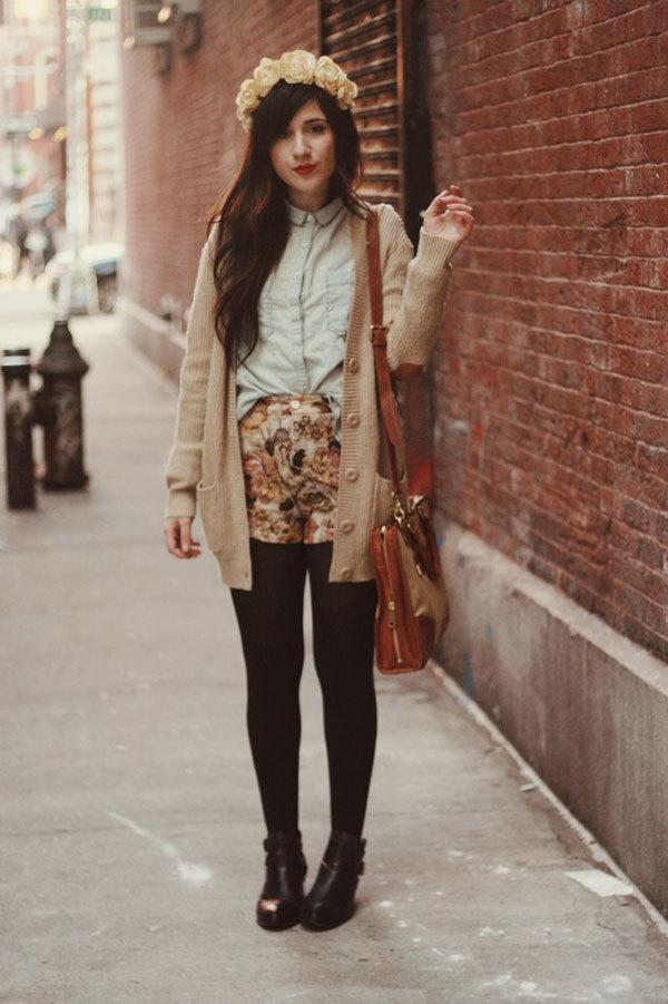Outfits with floral shorts (52)