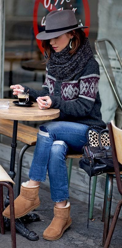 what to wear with snow boots girls women (11)