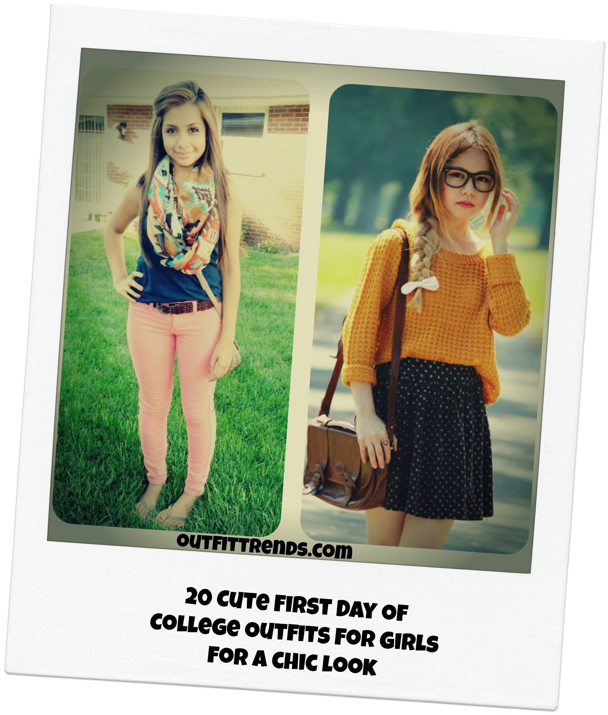 20 Cute First Day Of College Outfits For Girls For A Chic Look
