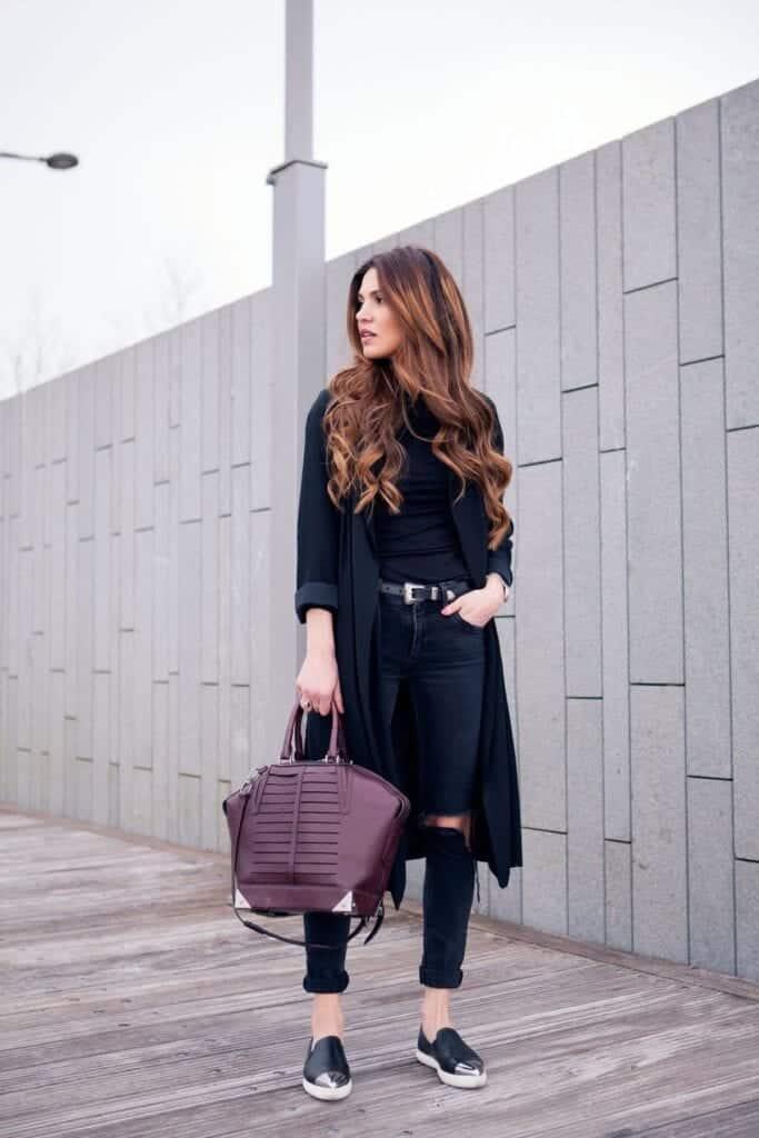 Stylish Ways to Wear Black Denim (22)