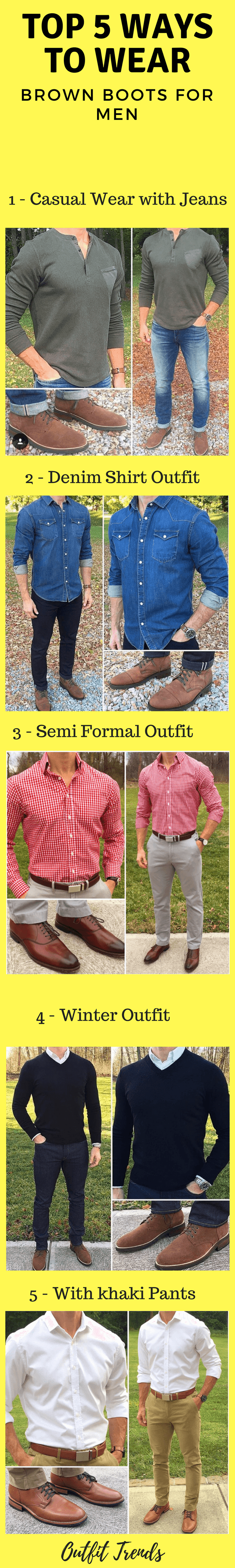 How to wear brown boots for men