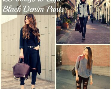 23 Ways to Style Black Denim