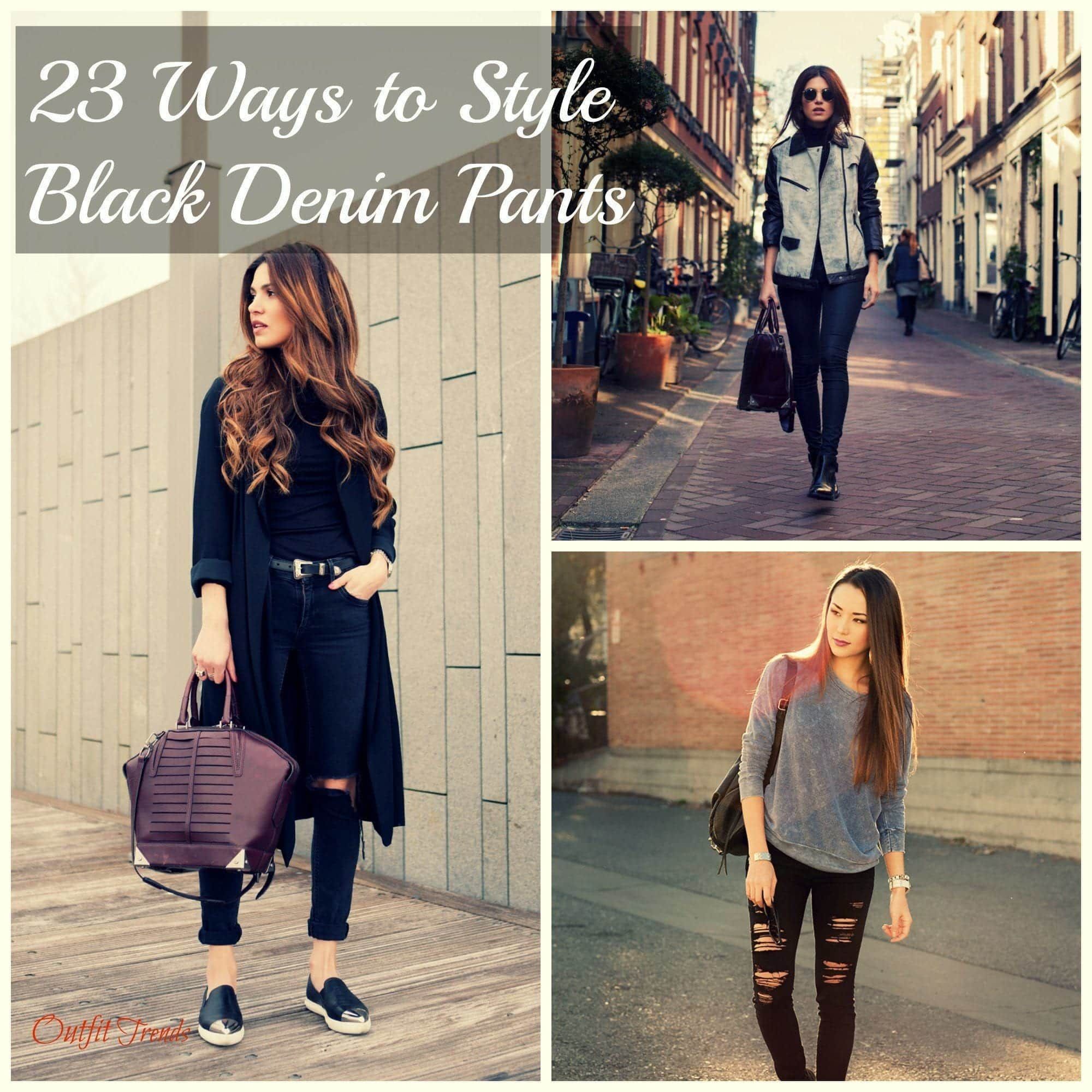 23 Ways to Style Black Denim