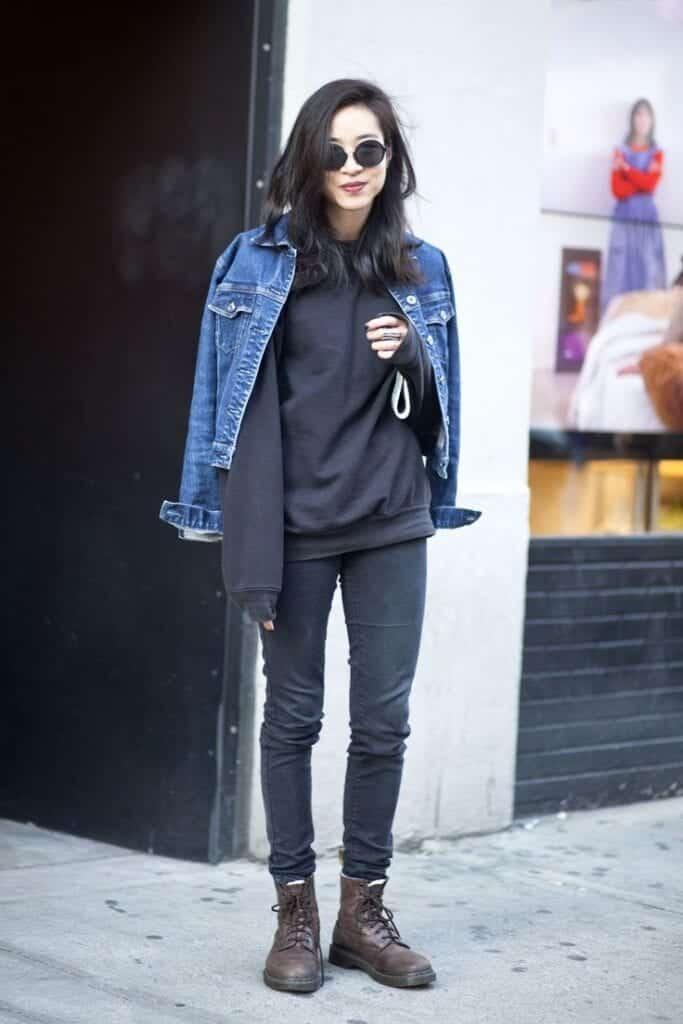 Stylish Ways to Wear Black Denim (18)